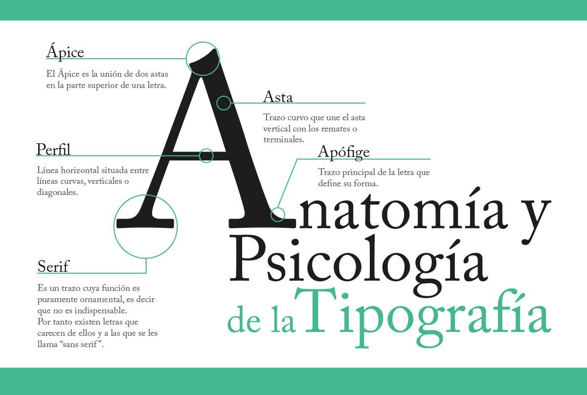 anatomía y-psicología de la tipografía